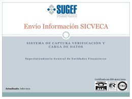 Presentacion Envío Información SICVECA