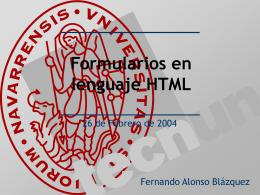 Definición en HTML