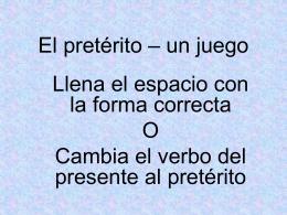 El pretérito – un juego p. 56