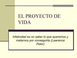 EL PROYECTO DE VIDA - Seminario Concordia