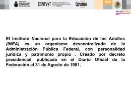 MISION - Instituto Nacional para la Educación de los Adultos