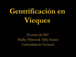 Gentrificación en Vieques