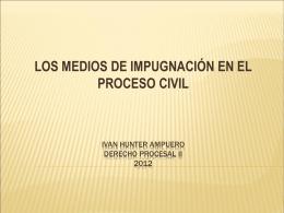 Ivan hunter ampuero derecho procesal ii 2012