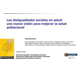 Las desigualdades sociales en salud