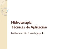 Hidroterapia Técnicas de Aplicación