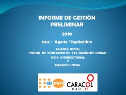 Caracol - SI-Pro :: Servicio Integrado de Información del Programa