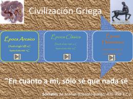 Civilización Griega linea de tiempo