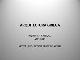 arquitectura griega - Facultad de Arquitectura y Urbanismo