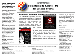 3er Trimestre Rama de Karate – Do 2014