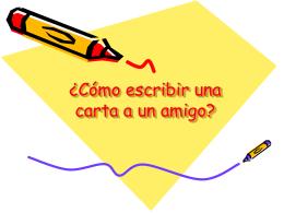 ¿Cómo escribir una carta a un amigo?