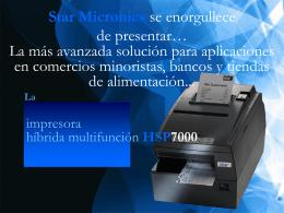HSP7000 de Star Micronics