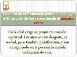 Relectura de la Formación permanente