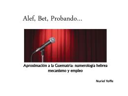 AlefBetProbando-Limud 2014