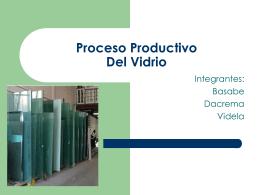 Proceso Productivo Del Vidrio - 4055-T91