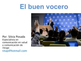 el buen vocero - Bienvenidos a Acervo Salud
