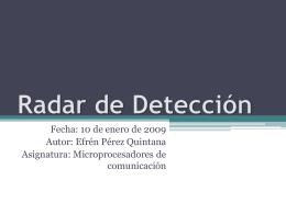 Radar de Detección