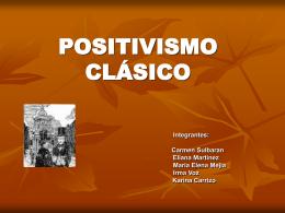 POSITIVISMO CLÁSICO
