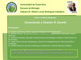 Invita a la Mesa Redonda: Conociendo a Darwin