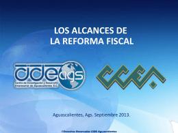 presentacion los alcances de la reforma fiscal 22