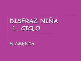 DISFRAZ NIÑA 1. CICLO