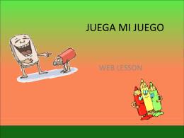 Web Lesson juegamijuego
