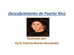 Descubrimiento de Puerto Rico (power point)