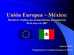 Trabas no arancelarias UE a México