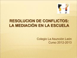 MEDIACIÓN ESCOLAR - Colegio La Asunción de León