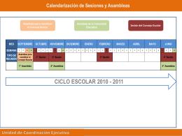 Calendario de Asambleas y Sesiones