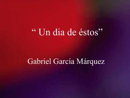 Un dia de estos_ Gabriel Garcia Marquez