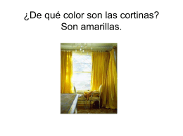 ¿De qué color son las cortinas? Son amarillas.