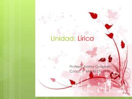 Unidad: Lírica