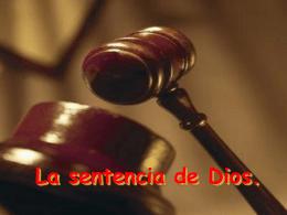 La sentencia de Dios. - ministeriolaesperanzaesjesus.com