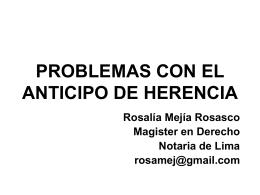 PROBLEMAS CON EL ANTICIPO DE HERENCIA