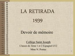LA RETIRADA 1939