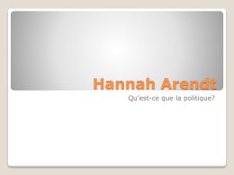 Hannah Arendt - Aix1 Uottawa