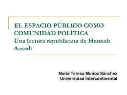 el espacio público como comunidad política