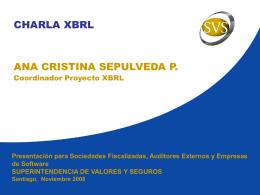 III. Proyecto XBRL. Continuación… - Superintendencia de Valores y