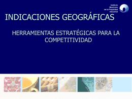 Indicaciones Geográficas - Centro Nacional de Registros