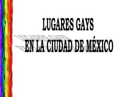 Lugares gay en la Ciudad de México