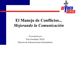 El Manejo de Conflictos - Massachusetts Youth Soccer