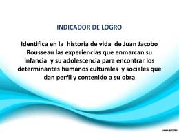 JUAN JACOBO ROUSSEAU - infancia y adolescencia