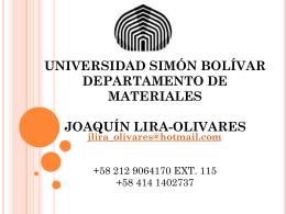 B3:Joaquín Lira - Universidad Simón Bolívar