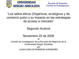 Los sellos éticos (Orgánicos, ecológicos y de comercio justo)