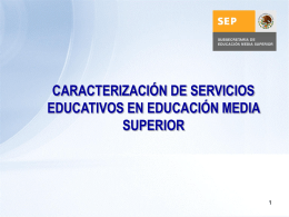 Elementos del proceso educativo - Subsecretaría de Educación
