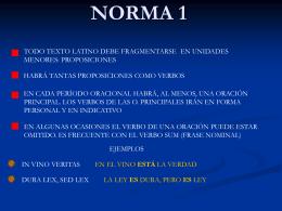 Normas para la traducción