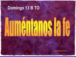 XIII Domingo del Tiempo Ordinario, Ciclo B. San Marcos 5, 21-43