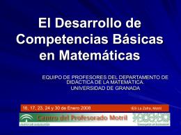 el desarrollo de las competencias básicas en matemáticas