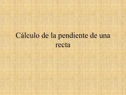 Cálculo de la pendiente de una recta