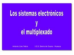 Sistemas electrónicos y multiplexado